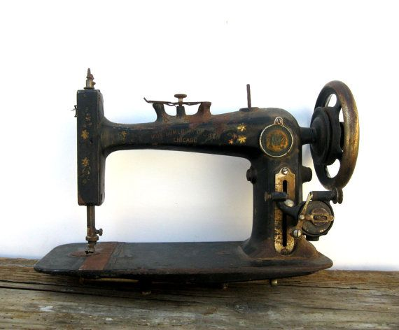 Antique Sewing Machine Distressed Art Deco by Yesterdayand2day, $74.00