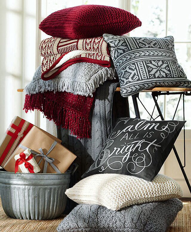 Pottery Barn Mclean: Pottery Barn Christmas, Bright Pillows