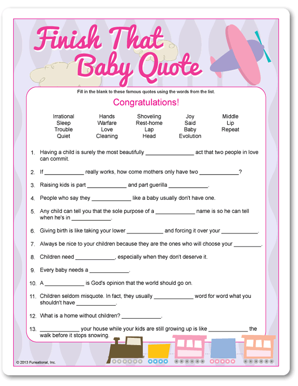 Printable Finish That Baby Quote - Pink