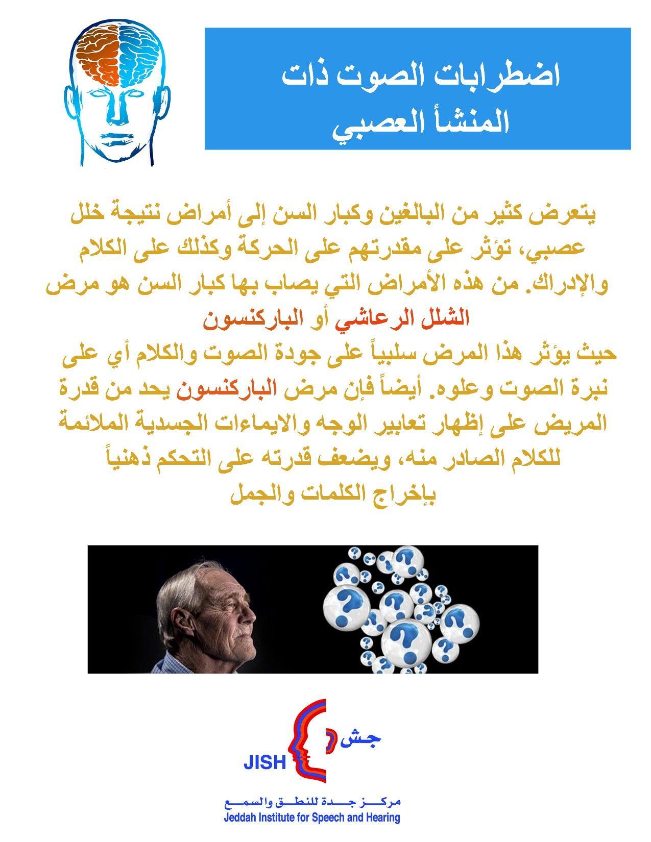 صوت عصبي أعصاب دماغ دماغيه شلل الشلل الرعاشي باركنسون التصلب العصبي اللويحي Voicedisorders Parkinsons Multiplesclero Speech Therapy Speech Therapy