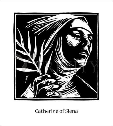 St Catherine Of Siena Catholic Christian Religious Art Artwork