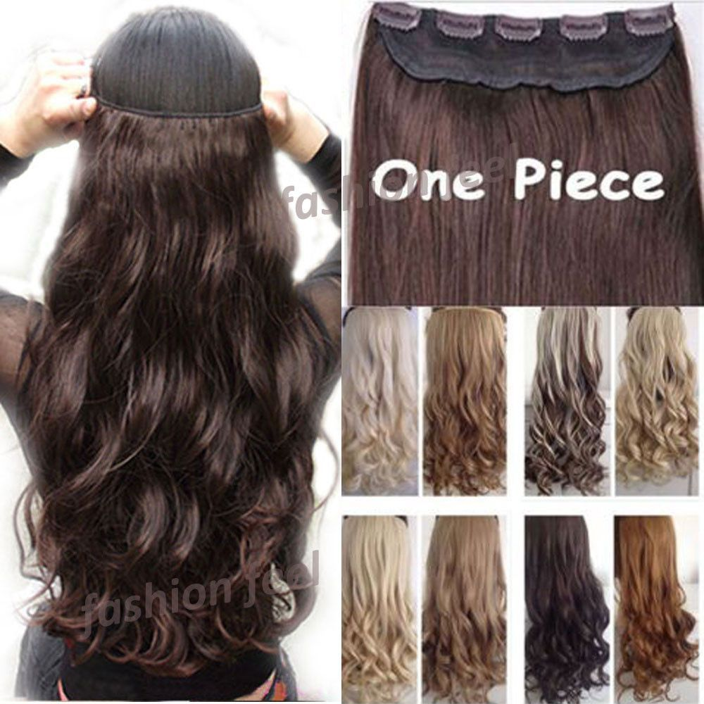 18 28 45 70cm 100 Real Natural Hair Extention 34 Full Head Clip