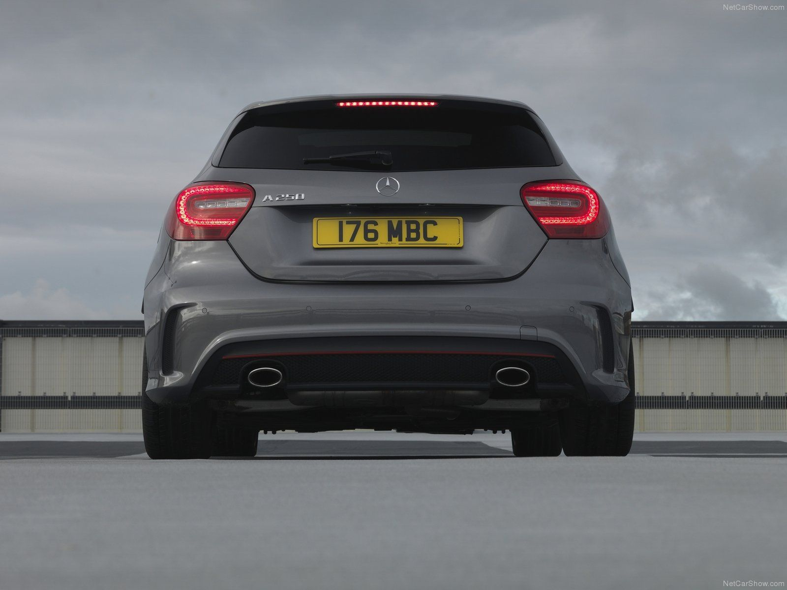 Mercedes a class amg sport 2013 cars rear view for Mercedes benz lease rates