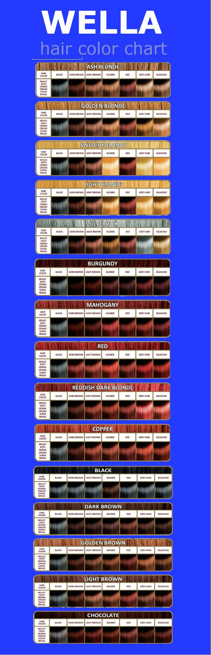 Click to close or and hold for moving picture wella hair color chart also rh pinterest