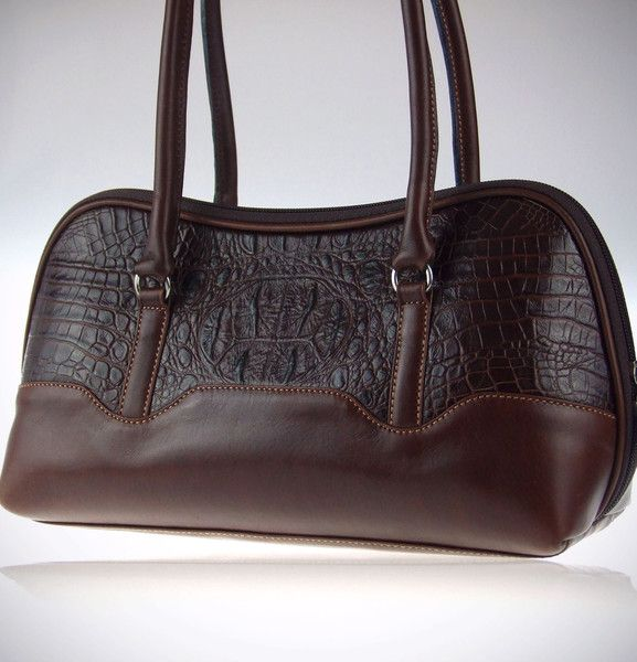 Argentine Leather Fine Handbag With Reptile Finish Made In Cowhide Great By Orifaz Cueros Argentinos Right Now At 155