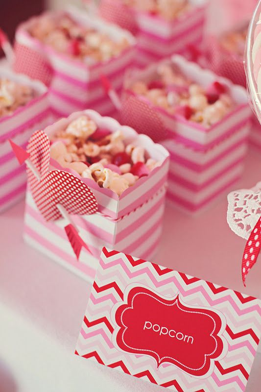 Valentine's Day Treat Boxes at a Love Party - Kara's Party Ideas - The Place for All Things Party