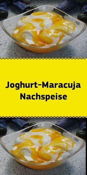 Photo of Zutaten 750 g Joghurt 2 EL Zucker 200 g Sahne 300 ml Maracujasaft