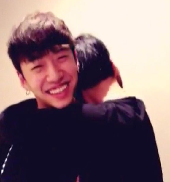 Himchan hugging Yongguk on his birthday BangHim, B.A.P