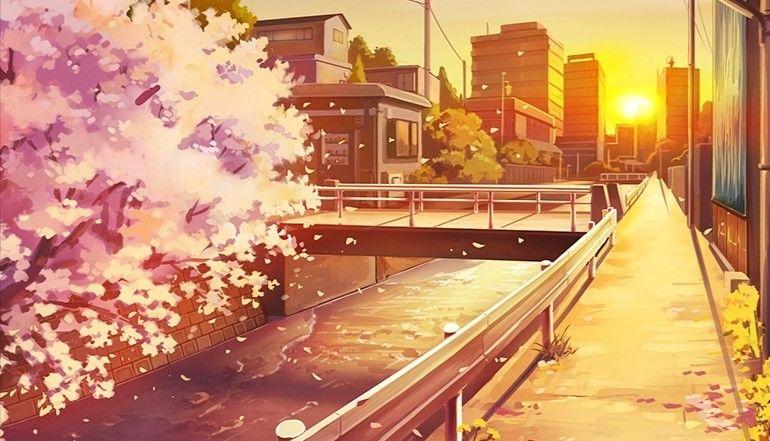 Hot Street Anime Scenery Wallpaper Scenery Wallpaper Landscape Wallpaper