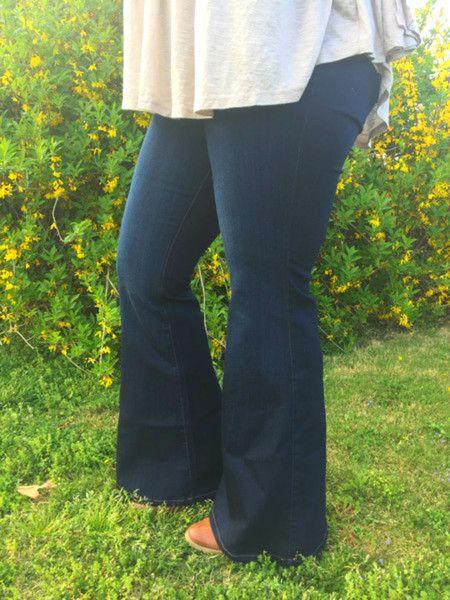 plus size high waist bell bottom denim jeans http://therusticrack