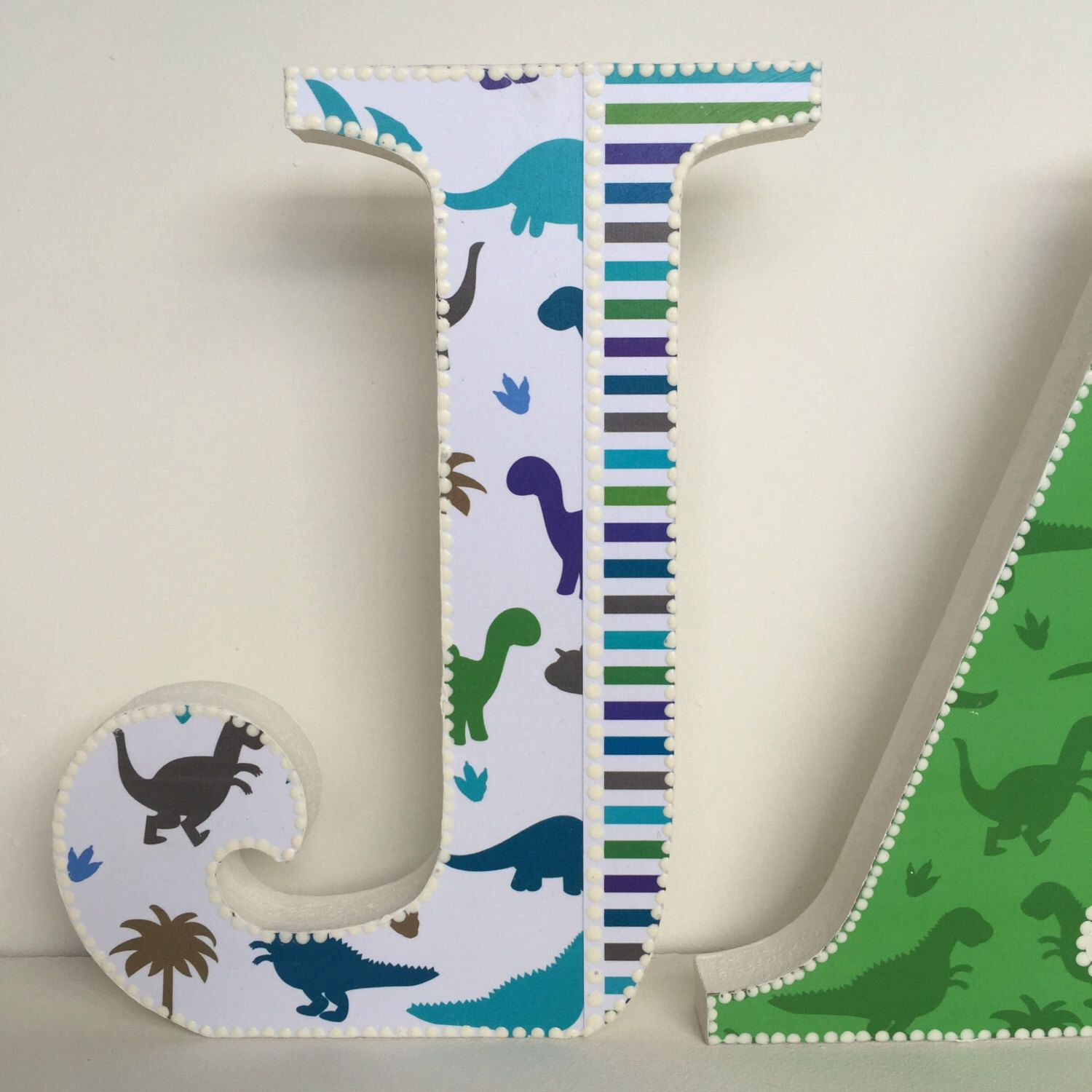 decorated boy wooden letters dinosaurs nursery decor boys bedroom