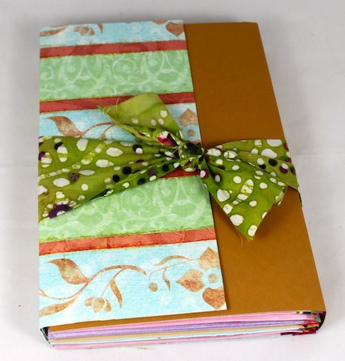 Pocket Journal With Fabric Tape #fabrictape