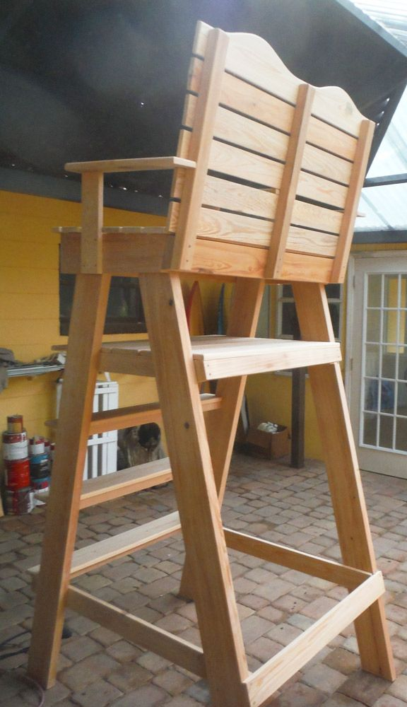 Tennis Umpire Chair For Sale Original Chair We Made From Cypress 599 Wood Patio Furniture Chairs For Sale Deck Chairs