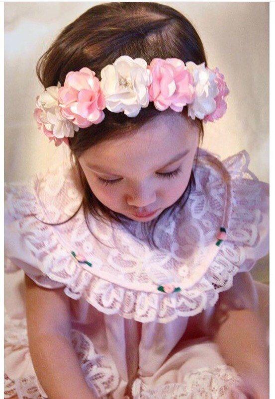 Flor corona diadema beb corona diadema por LilMajestyBoutique