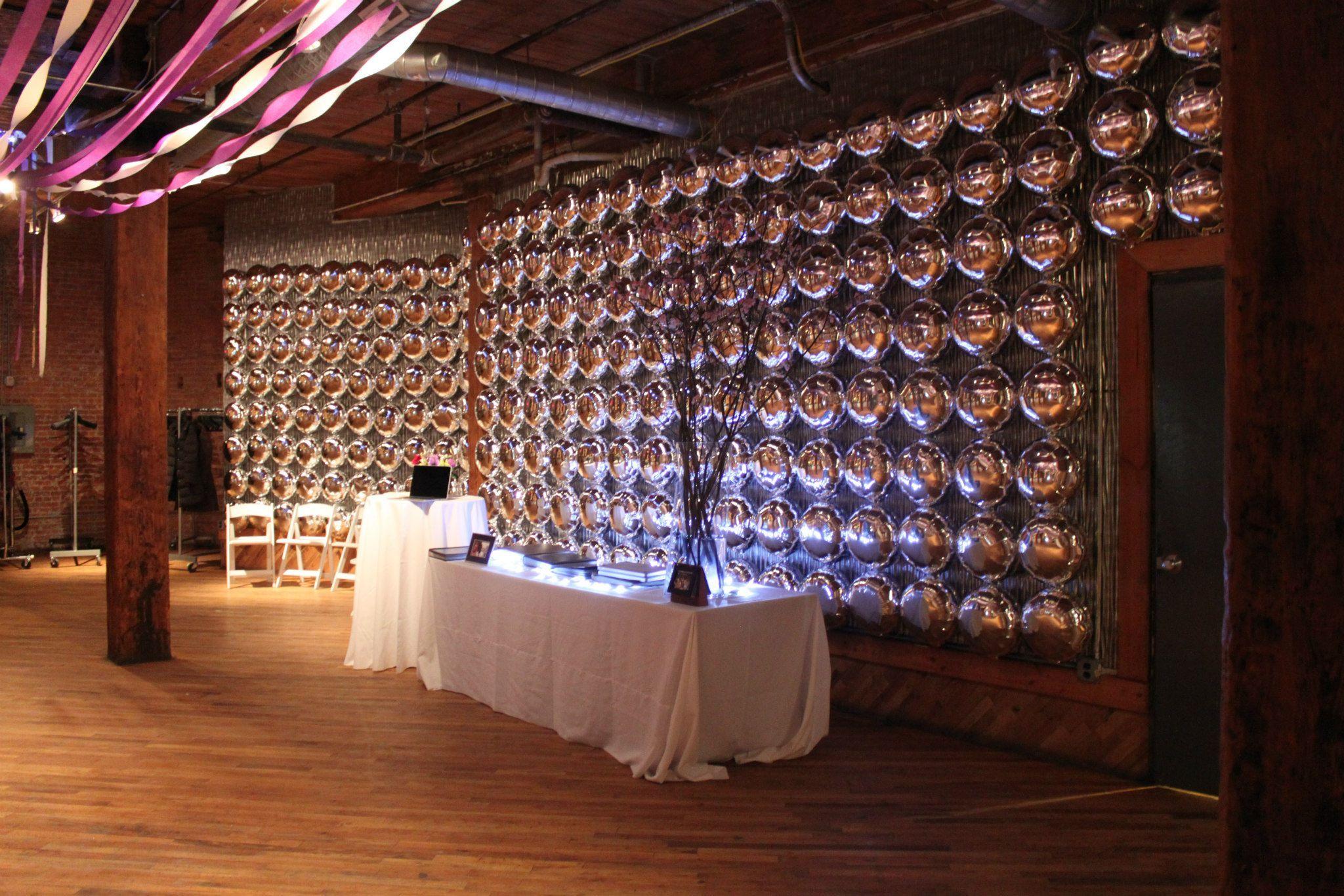 Mylar Balloon Wall Party Decor