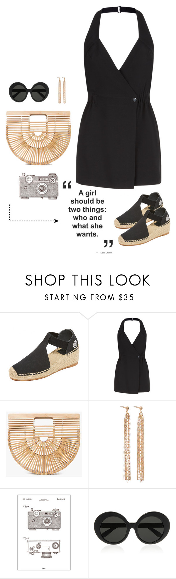 """5.18.17: She Wants"" by momlifeandstyle ❤ liked on Polyvore featuring Tory Burch, Cult Gaia, Charlotte Chesnais, Bomedo and Linda Farrow"
