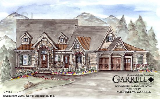 :: Havens South Designs :: loves Grist Mill Bungalow House Plan 07462, Front Elevation, Mountain Style House Plans, Cabin Style House Plans