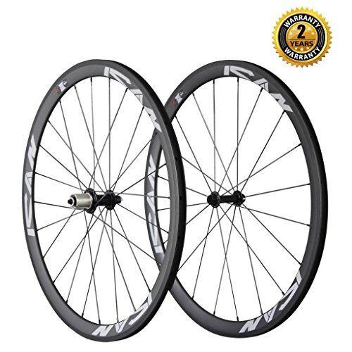 Ican Carbon Road Bike 700c Wheelset Clincher 38mm Rim Sapim Cxray