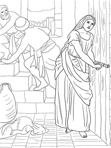 Raab oculta a los espías Dibujo para colorear | biblie copii ...