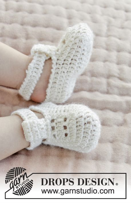 My Sweetie Slippers / DROPS Baby 29-7 - Zapatillas a ganchillo para ...