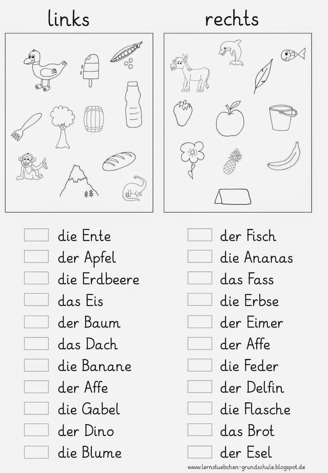 lesef rderung 1 klasse german grammar learn german und pre school. Black Bedroom Furniture Sets. Home Design Ideas