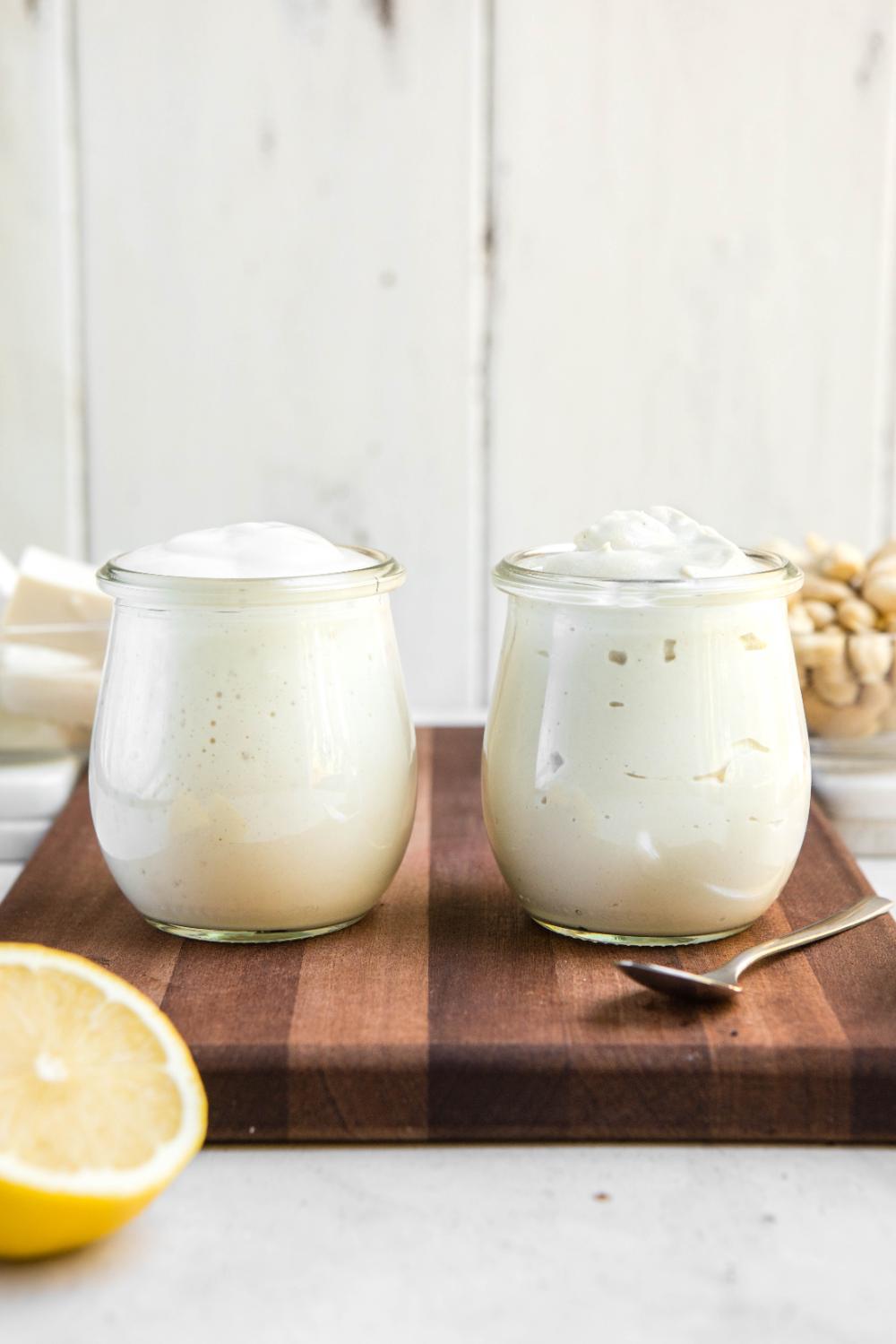 Easy Vegan Mayo Recipe Actually Healthy 2 Ways From My Bowl Recipe In 2020 Vegan Mayo Recipes Oil Free Vegan