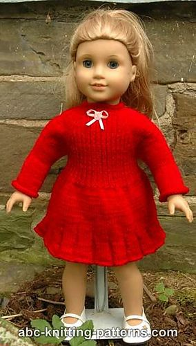 Ravelry: American Girl Doll Little Red Dress pattern by Elaine Phillips