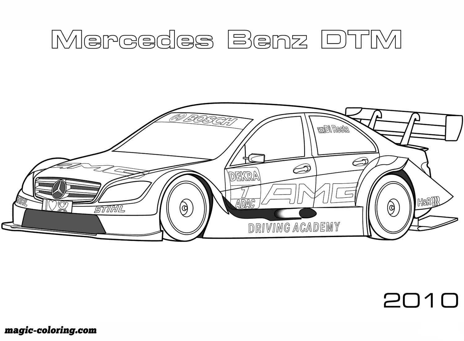 2010 Mercedes Benz Dtm Coloring Page Cars Coloring Pages Sports Coloring Pages Race Car Coloring Pages
