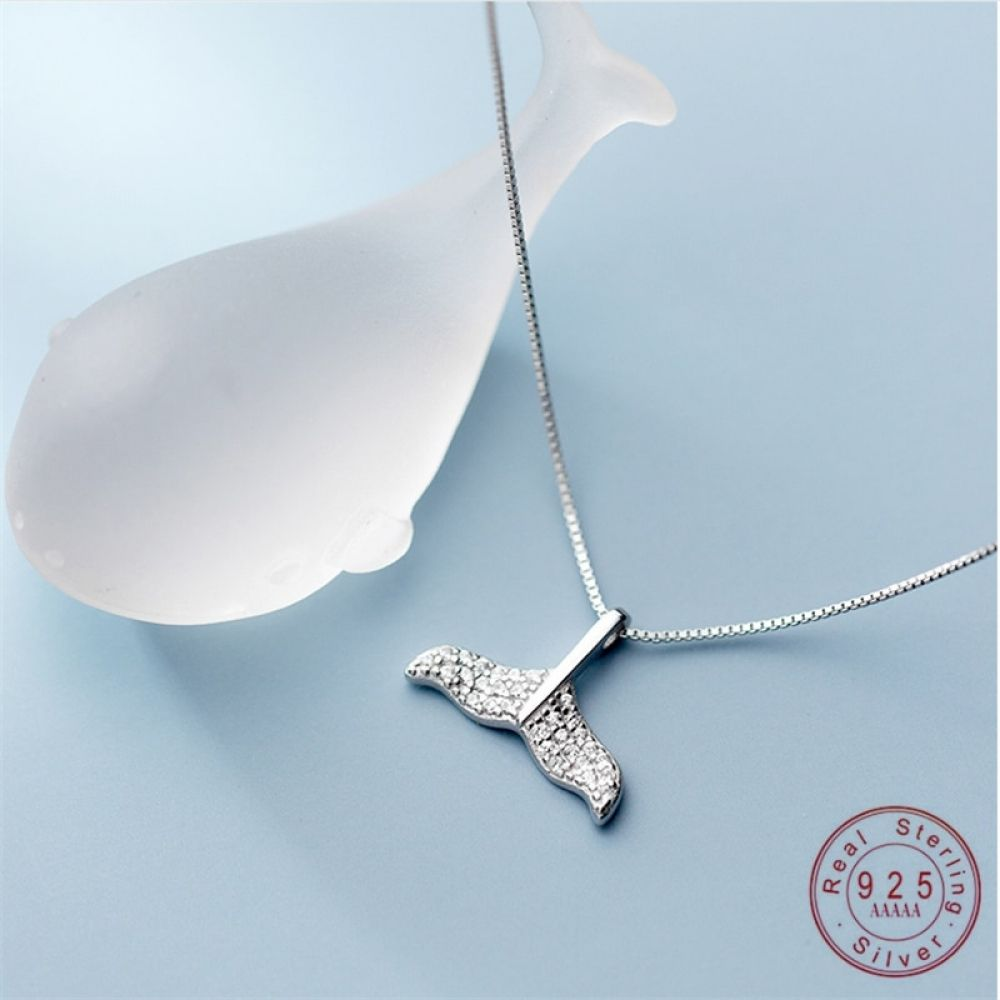 Hot Zircon Dragonfly Necklace Sterling Pendant Silver Women Jewelry Party Gift