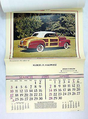 Vintage 1985 2019 Album Of Antique Cars Calendar Antique Cars