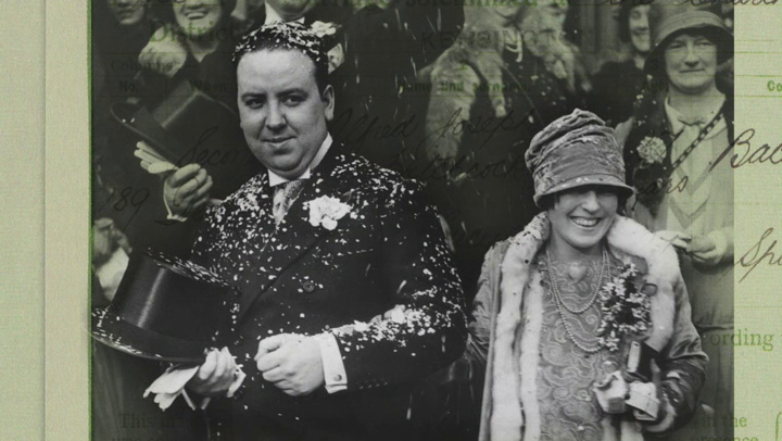 Alfred Hitchcock and his wife, Alma Reville Alfred