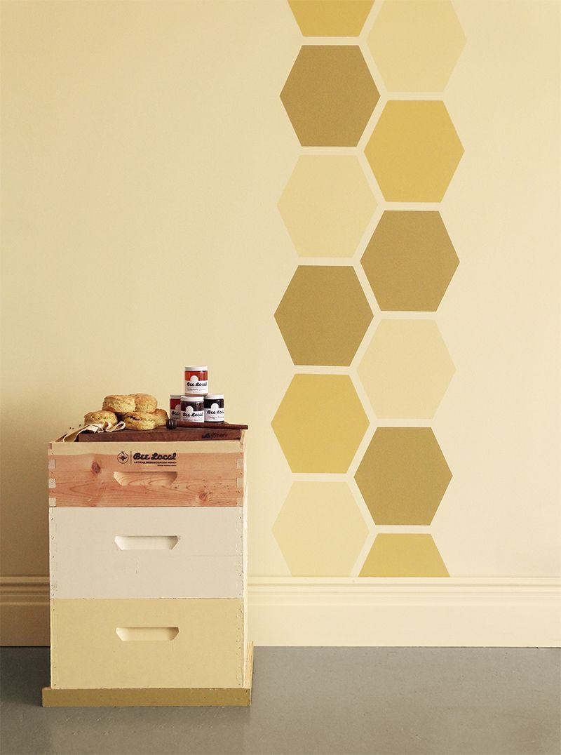 Colorhouse DIY paint project - Honeycomb Hues Wall with hues from ...