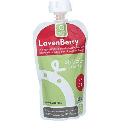 Oh Baby Foods Organic Baby Food Textured Puree Level 2 44