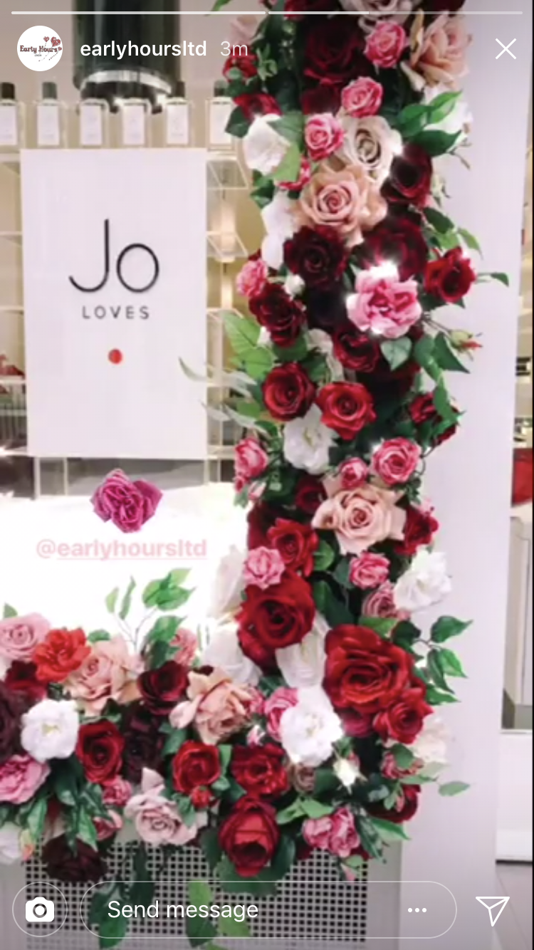 Artificial Flowers From Decoflora For A Jo Loves Installed By Early