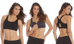 Groupon - Marika Tek Zip-Front Sports Bra (2-Pack). Groupon deal price: $29.99