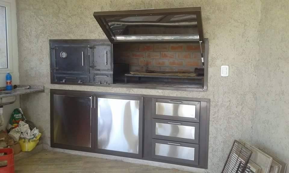 Mueble para asador con horno y quemador bajo asador con - Mueble para horno ...