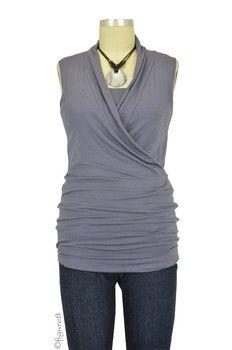 Baju Mama Isabella Sleeveless Nursing Top in Purple Grey by Baju Mama with free shipping