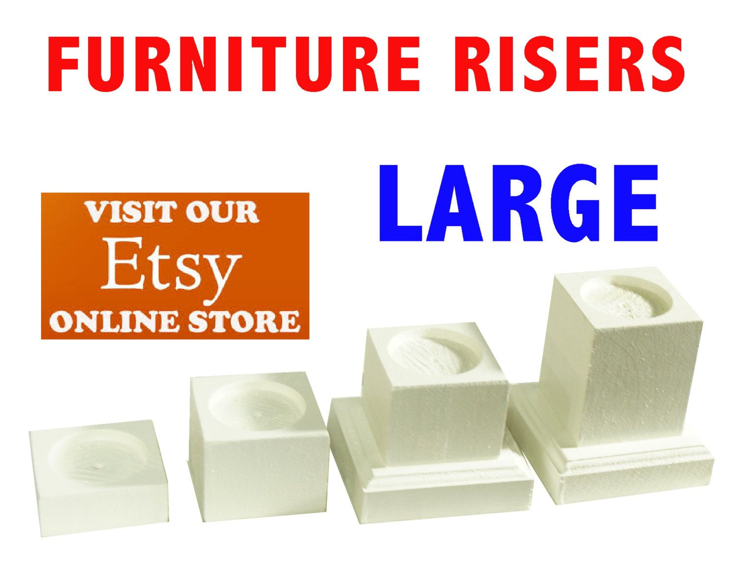 Large Furniture Risers Bed Lifters By Furnitureriserscom On Etsy