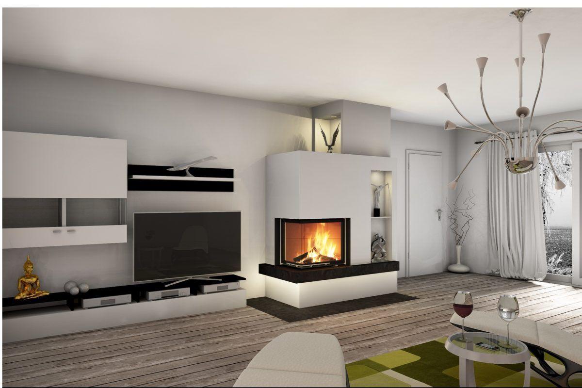 wohnzimmer ideen kamin in 8  Living room designs, Interior
