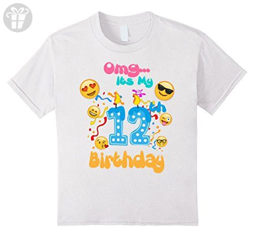 Unisex Child Emoji T Shirt For 12 Year Old Awesome Kids Birthday White