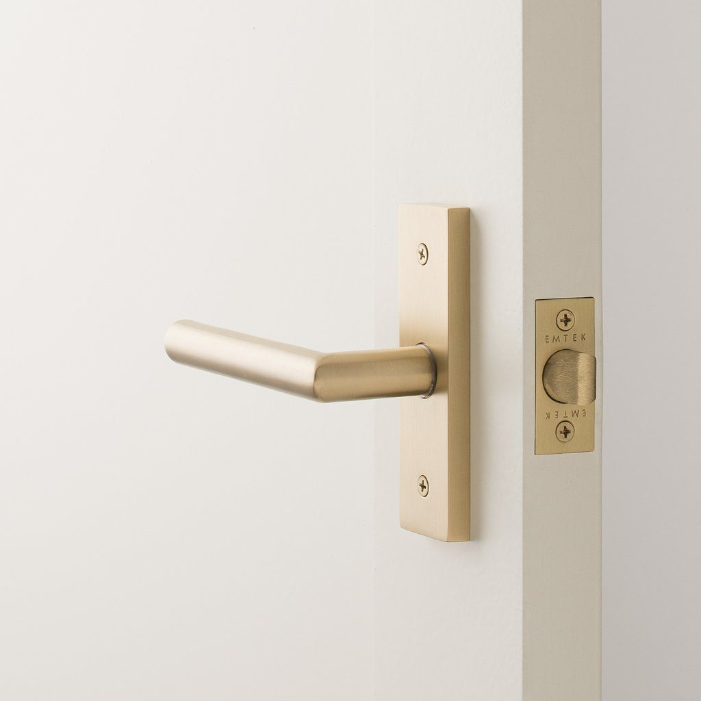 Rome Small Door Set With Otto Lever Satin Brass Small Doors Door Sets Doors