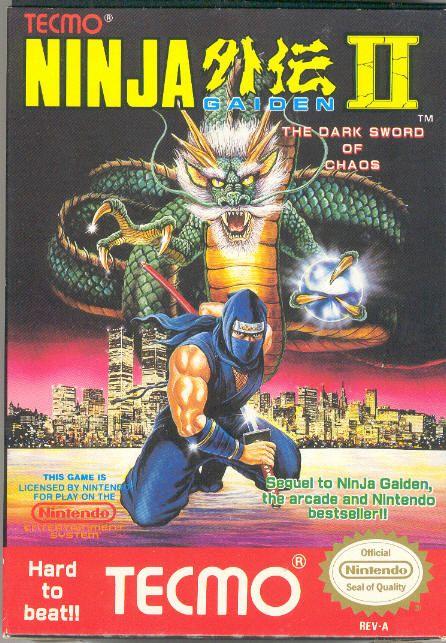 Ninja Gaiden Ii The Dark Sword Of Chaos Nes Ninja Gaiden Classic Video Games Nintendo Nes Games