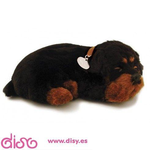 Peluches Que Respiran Perfect Petzzz Peluche Perro Rottwailer 25cm Peluches Perros Rottweiler