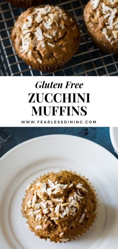Quick and easy gluten free zucchini muffins What to do with extra zucchini Gluten free muffin recipe that is perfect for breakfast via
