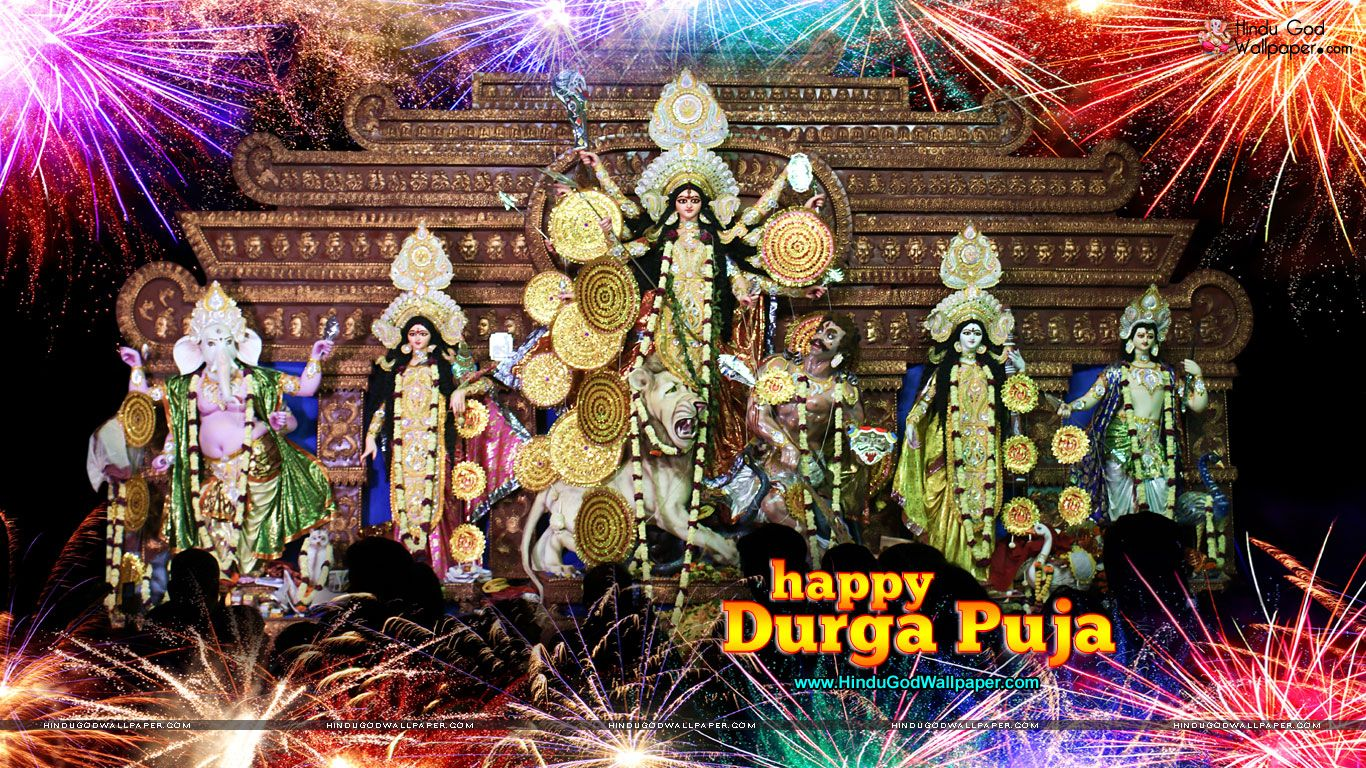 Durga Puja Hd Wallpaper: Happy Durga Puja HD Wallpaper For Desktop Download
