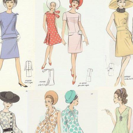 ファッションデザインのラフ画5枚【2019】