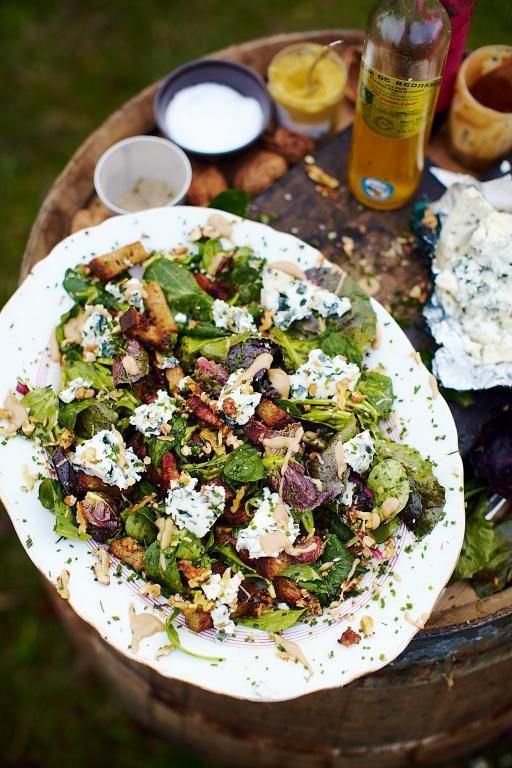 roquefort salad with warm croutons & lardons | Jamie Oliver ..