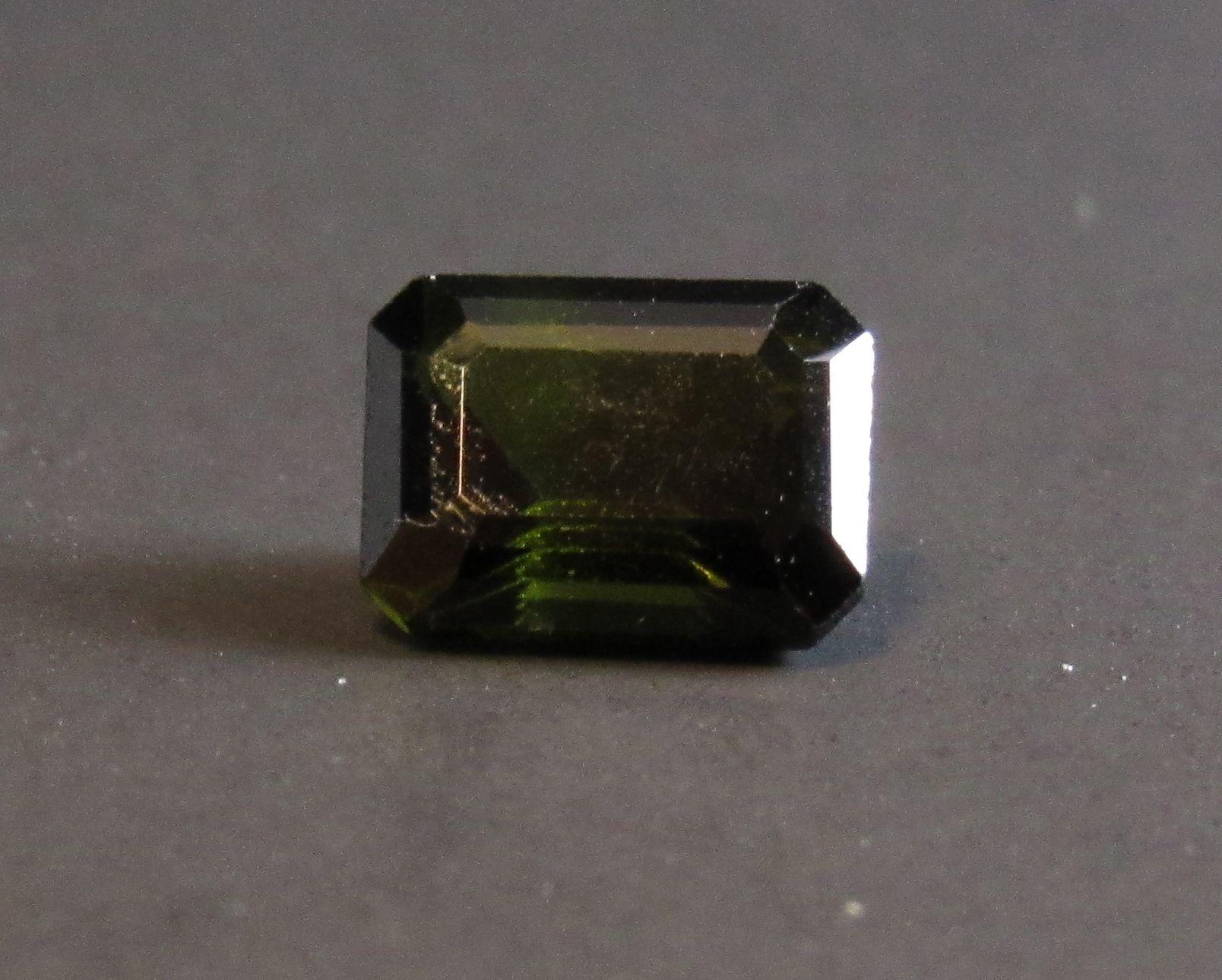 Dark Green Tourmaline Emerald Cut