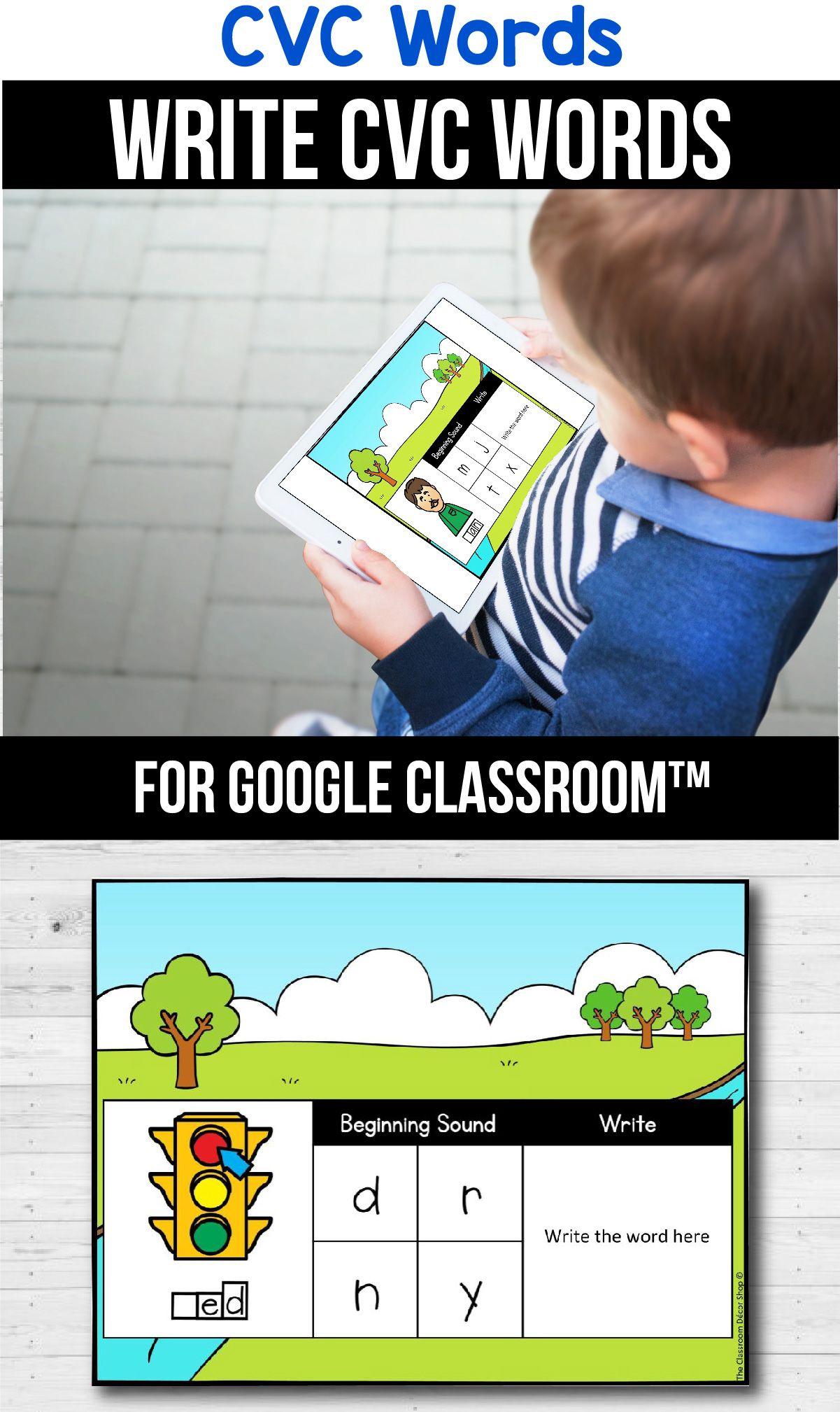 Classroom Distance Learning Cvc Write A Word