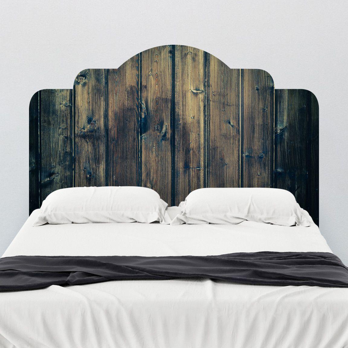 Stained Wood Adhesive Headboard Headboard Wall Decal Headboard